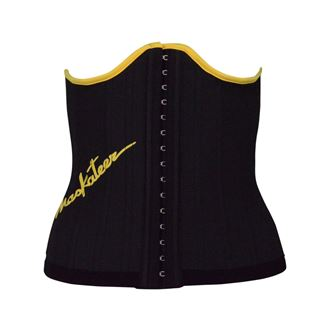 black_yellow_waist_trainer_rubber_latex_corset_25_steel_bones_cincher_best_uk_shapewear_body_shaper_training_belt_tummy_torso_belly_fat_lose_loss_weight_exercise_running_style_luxury_high_quality_best