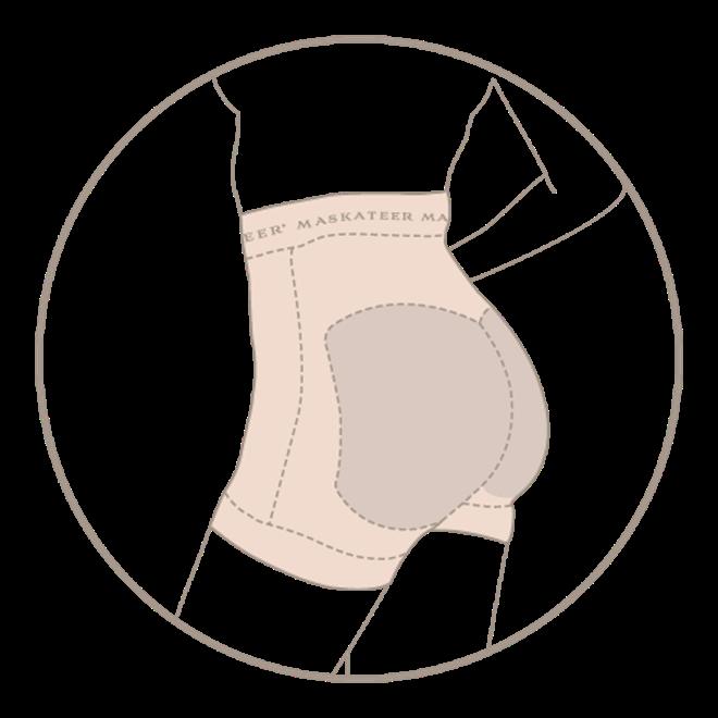 Bild von Glam Line High Waist Butt Lift Shorts